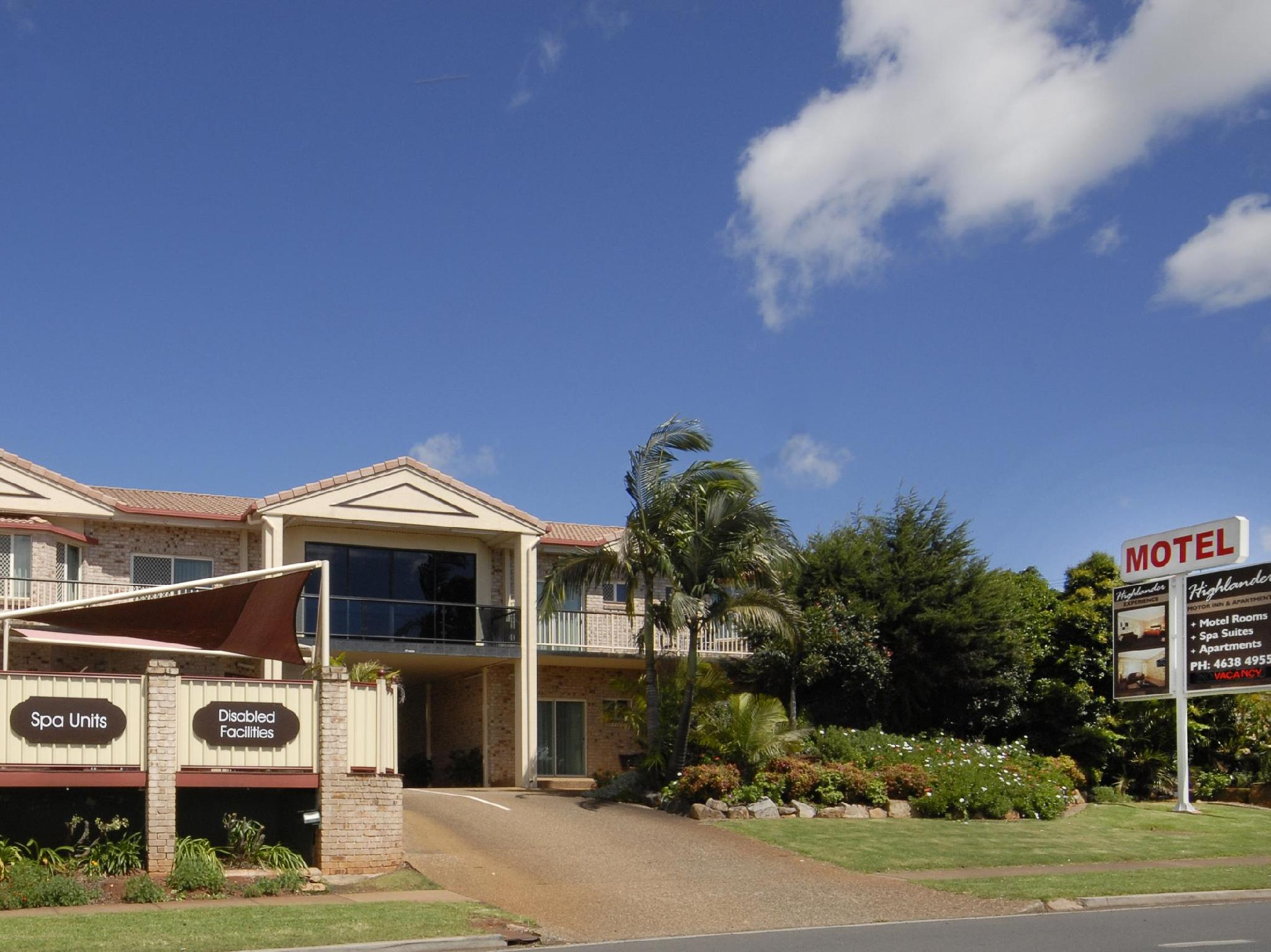 Highlander Motor Inn and Apartments, Toowoomba - Central