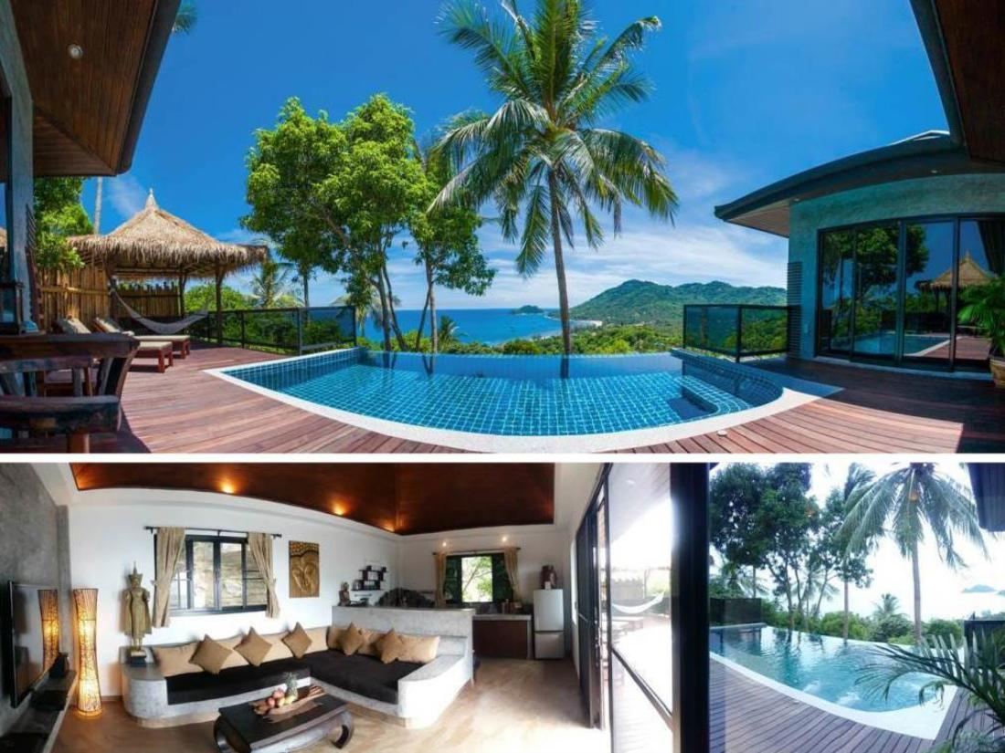Book koh tao heights pool villas koh tao thailand for Koi pool villa koh tao