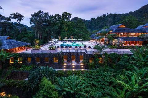 best hotels malaysia beach resorts Datai from above