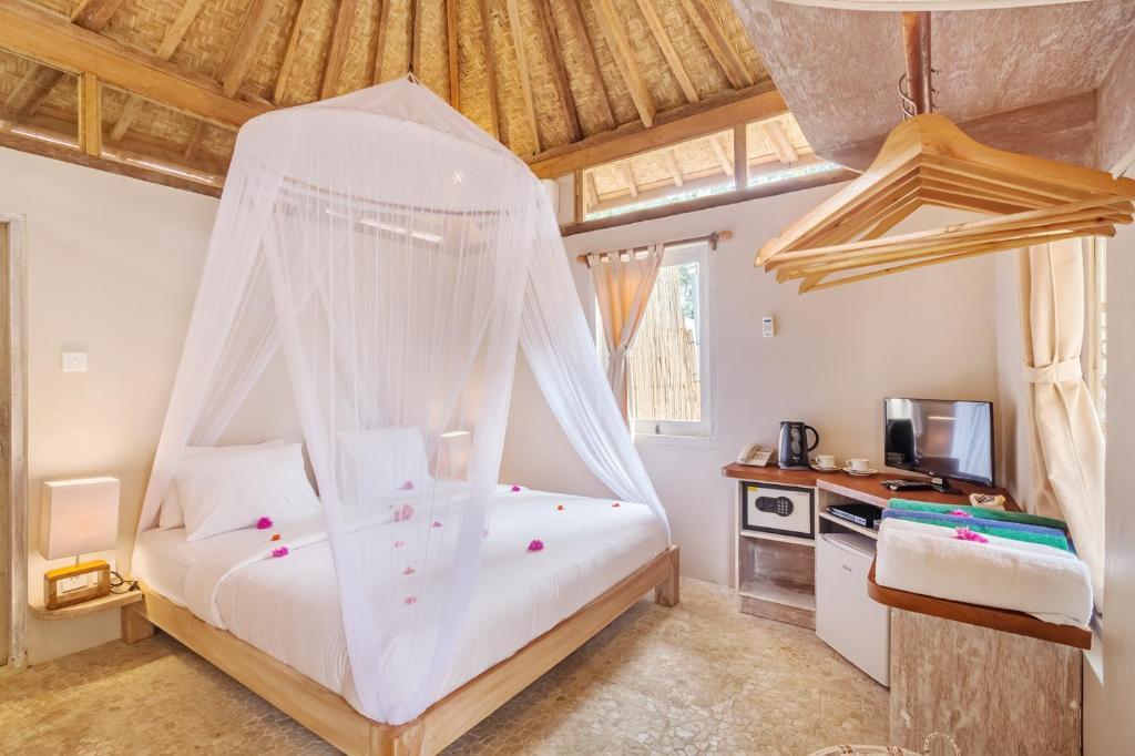 Kamar penginapan di AVIA Villa Resort