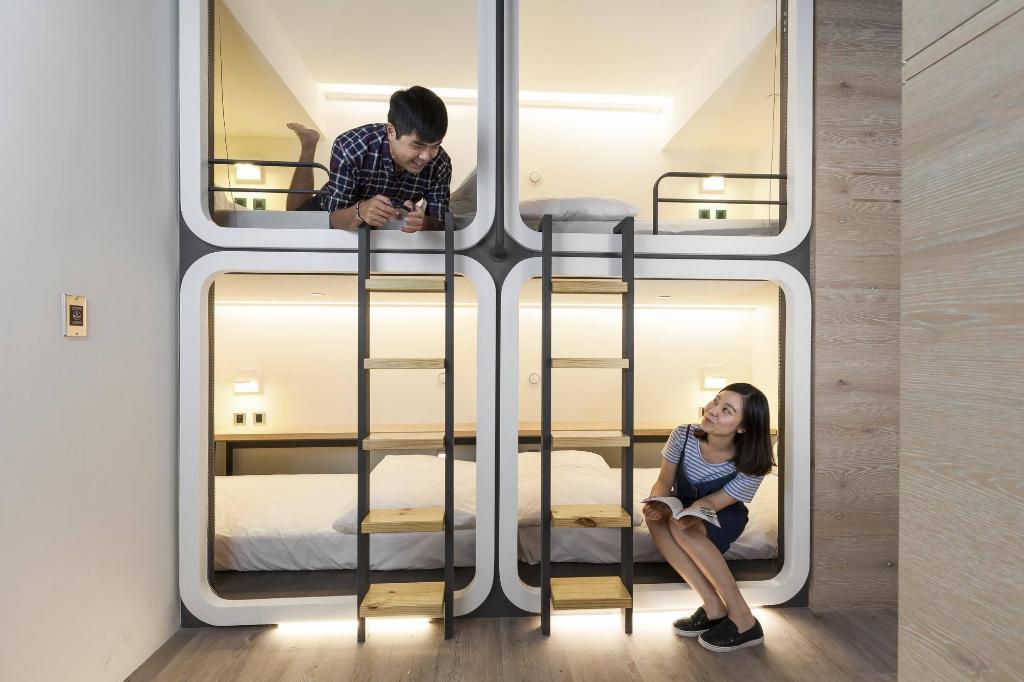 台灣青旅膠囊旅店-膠囊房型