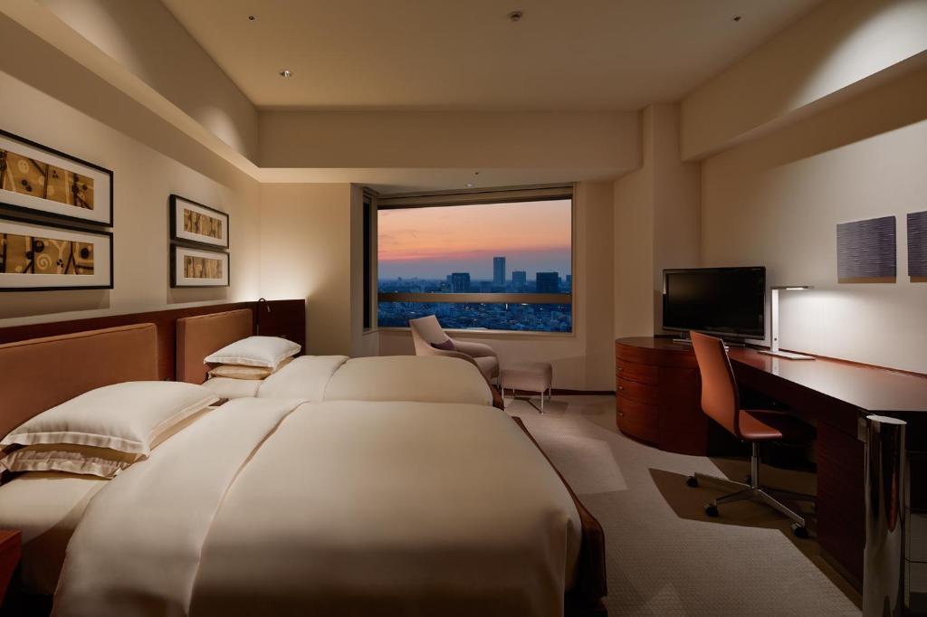 东京君悦酒店客房(2张单人床)--可使用俱乐部 - 床型