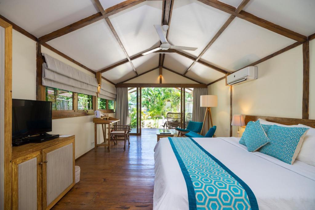 Kamar penginapan di Gili Teak Resort