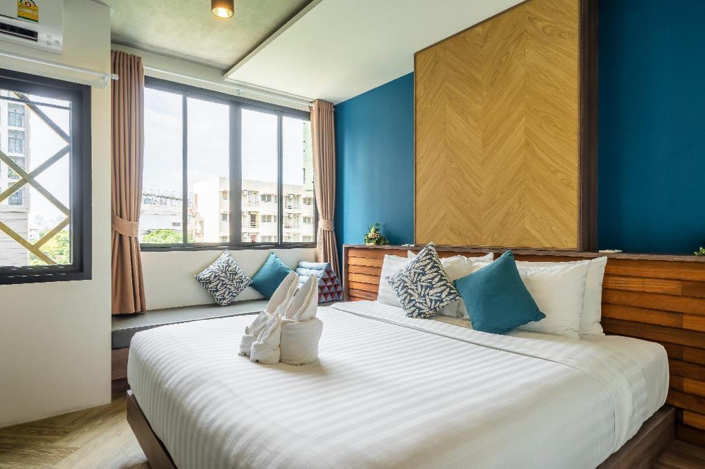 Hotel bedroom at W Station Bangkok