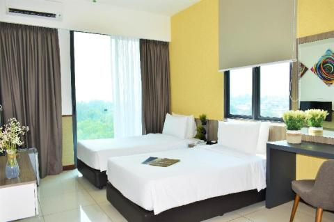 rooms at a port dickson resort with private beach