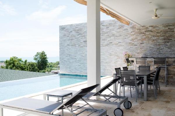 Pool villa with sunset view & 350m to beach Koh Samui