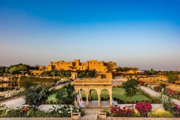 Suryagarh Jaisalmer is one of the best luxury hotels in the area