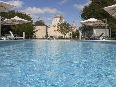 Top 5 cheap hotels in France – Castle near the Puy du Fou Park in Loire Valley with its swimming pool