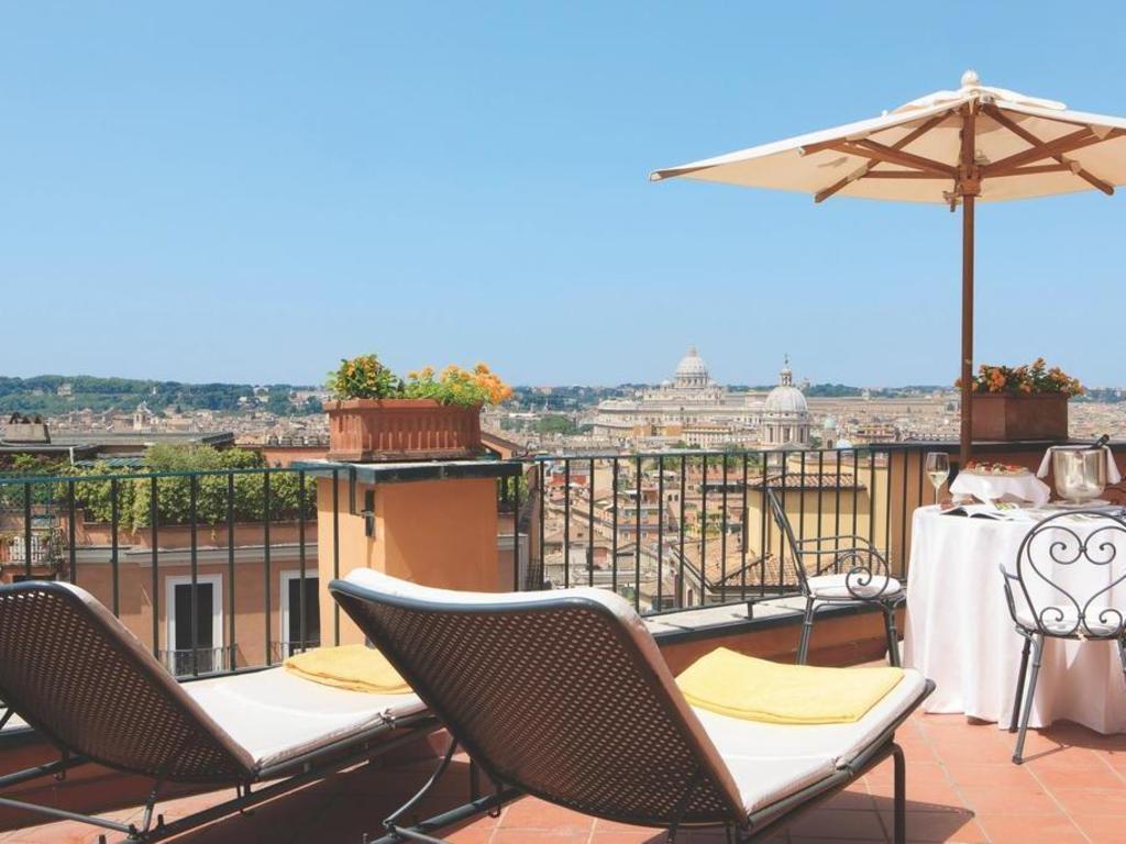 Best price on intercontinental de la ville rome hotel in for Rome hotel piscine