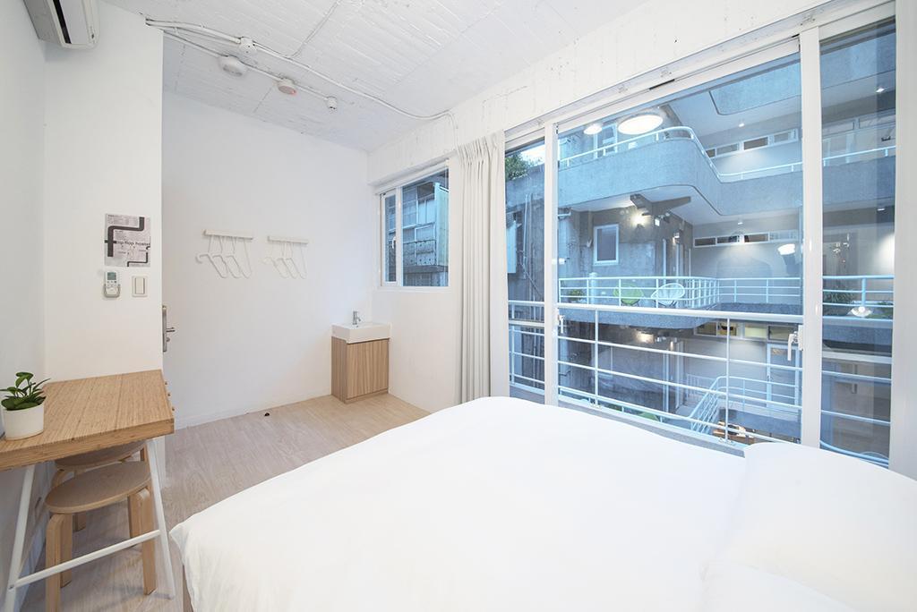 經典雙人房 - 需共用衛浴 - 房間格局
