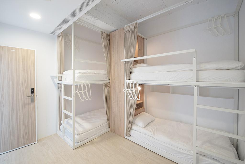 【1張床位】4人宿舍 - 男女混合 - 房間格局