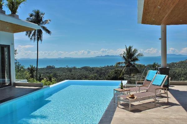 Modern Luxury Villa Private Pool Sunset Seaview Koh Samui