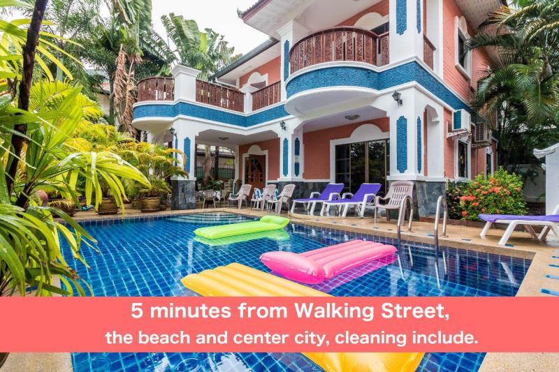 Pool villa 6 bedrooms 5 min Walking Street & beach