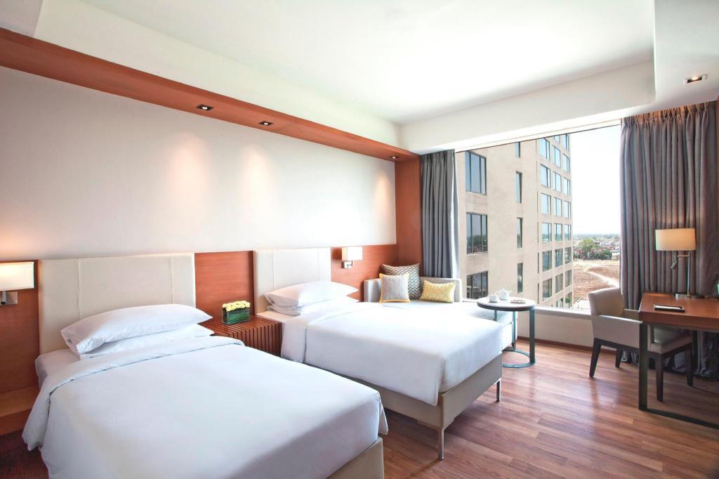 阿姆利则凯悦酒店客房(2张单人床)-可使用俱乐部酒廊 - 卫浴间