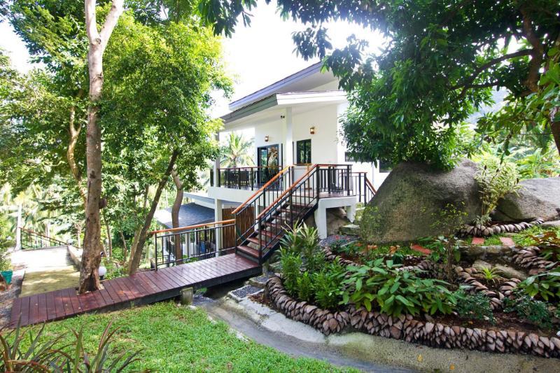 Waterfall, Sea/Jungle View Villa