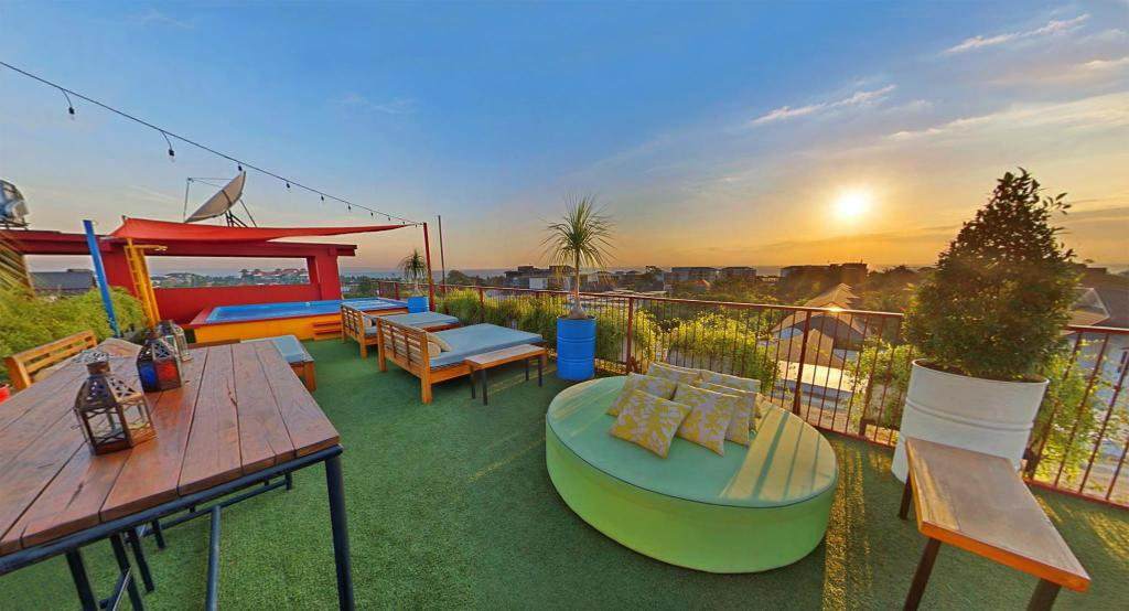 Hotel with top roof view in Seminyak