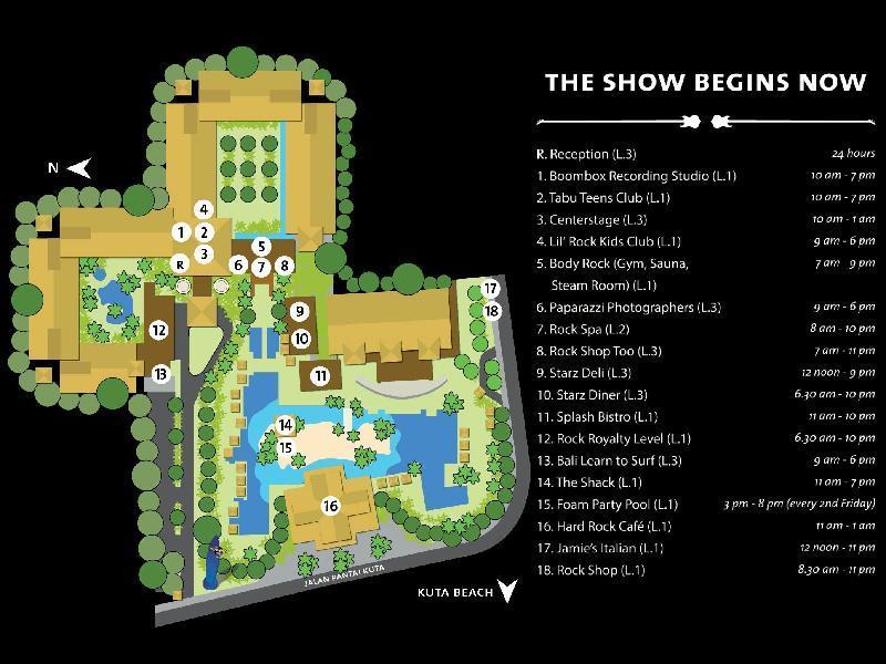 Foroffice Hard Rock Hotel Bali Location Map
