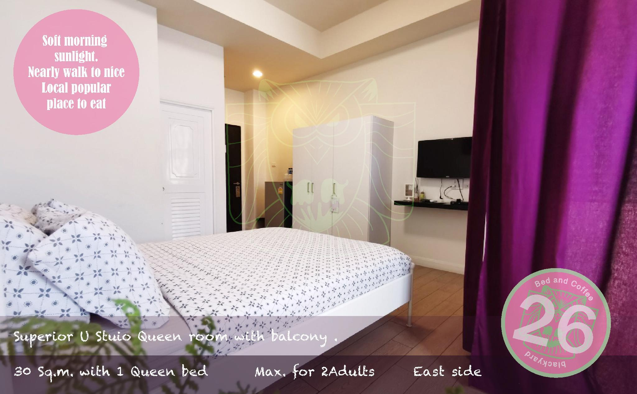 SOLO Private Studio room at 26 bed and coffee, Muang Chon Buri