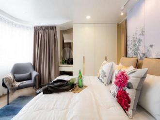 Luxury oriental art design  kitchen & living area