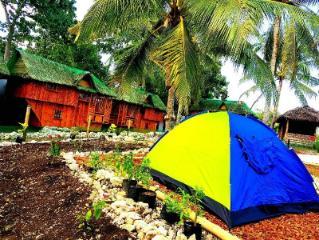 Family tent in Nirvana resort shared CR/hot shower