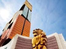 MGM Macau: hotel exterior - day view
