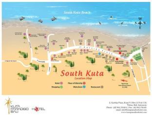 Kuta Paradiso Hotel Bali - Map