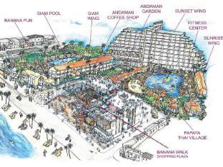 Patong Beach Hotel Пхукет - План поверхів
