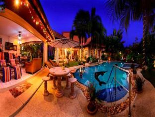 Relaxing Palm Pool Villa & Tropical Illuminated Garden