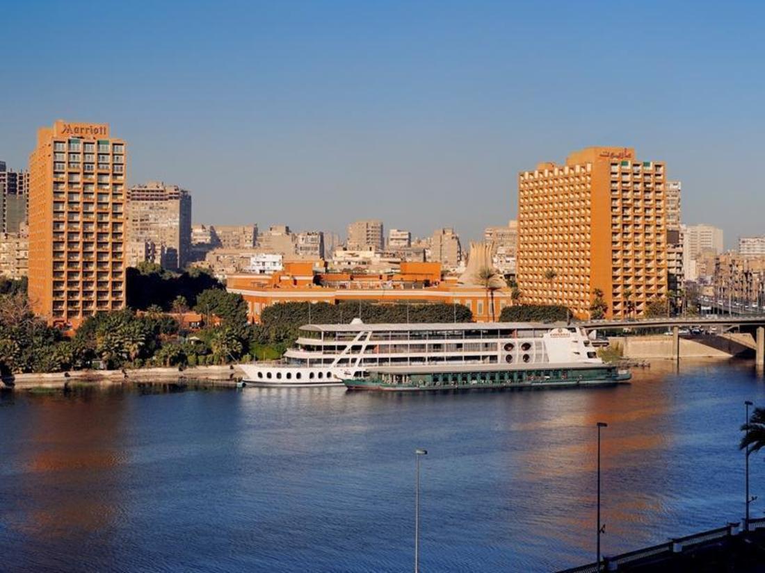 Cairo Marriott Hotel over Nile