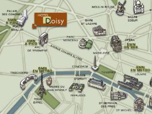 Doisy Etoile Hotel Parijs - Kaart