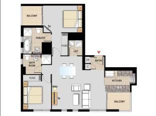 Meriton Serviced Apartments Pitt Street Sydney - 2 Bedroom Apartment