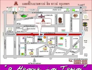 타운 인 타운 호텔 방콕 - 지도