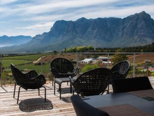 Clouds Wine and Guest Estate Stellenbosch - Deluxe Self-Catering Villa Terrace and View