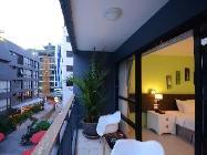 Utsikt pent med balkong