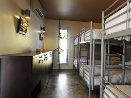 1 เตียงในหอพักรวมขนาด 6 เตียง