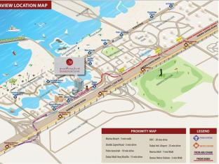Marina View Deluxe Hotel Apartment Dubai - Map