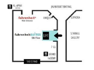Fahrenheit Suites Kuala Lumpur Kuala Lumpur - Side Entrance Plan