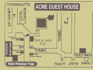Acme Guest House Kathmandu - location map