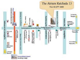 더 아트리움 라차다 13 방콕 - 지도