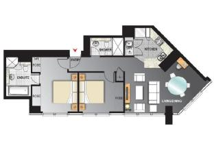 Meriton Serviced Apartments Adelaide Street Brisbane - Altitude Suite with 2 Bedrooms