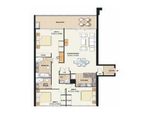Meriton Serviced Apartments Broadbeach Gold Coast - 3 Bedroom Ocean View Apartment