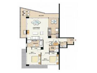 Meriton Serviced Apartments Broadbeach Gold Coast - 2 Bedroom 2 Bathroom Ocean View Apartment