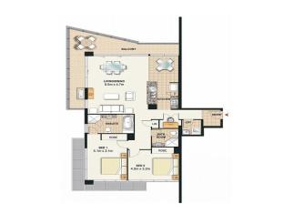 Meriton Serviced Apartments Broadbeach Gold Coast - 2 Bedroom 2 Bathroom Apartment