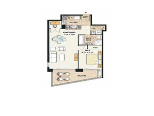 Meriton Serviced Apartments Broadbeach Gold Coast - 1 Bedroom Apartment
