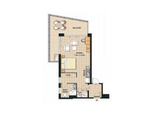 Meriton Serviced Apartments Broadbeach Gold Coast - Studio Ocean View Apartment