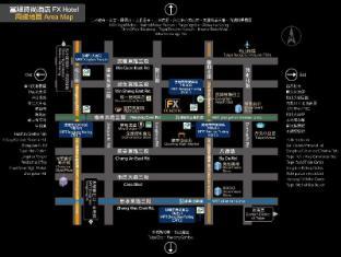 FX Hotel Taipei Nanjing East Rd. Taipei - Map
