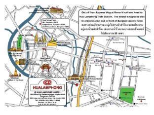 @Hua Lamphong Hostel Bangkok - Mapa