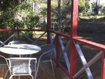 Mallacoota's Shady Gully Caravan Park: balcony/terrace