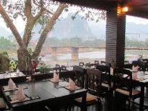Villa Vang Vieng Riverside: restaurant