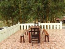 Lao Haos Resort: balcony/terrace